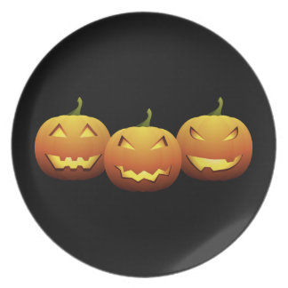 The Three Pumpkins Plate