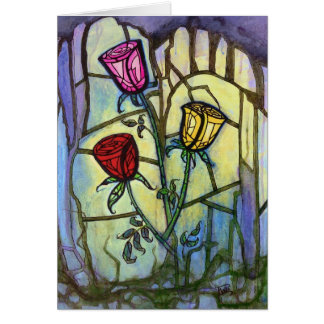 The Three Roses Greeting Card