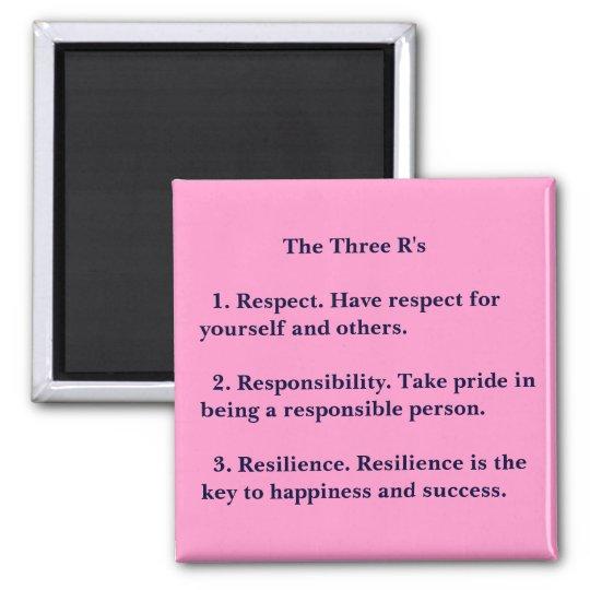 The Three R's Magnet