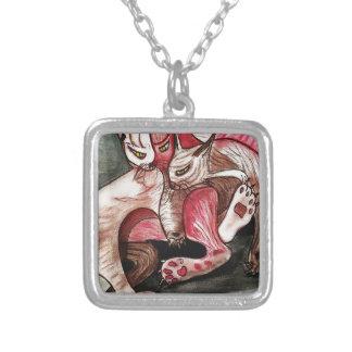 The Three Sad Gatos_result.JPG Silver Plated Necklace