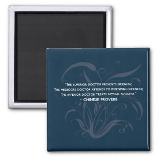 The three types of doctor - health wisdom proverb magnet