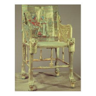 The throne of Tutankhamun  New Kingdom Postcard