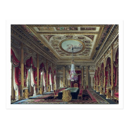 The Throne Room, Carlton House, from 'The History Post Card
