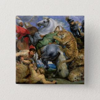 The Tiger Hunt, c.1616 15 Cm Square Badge