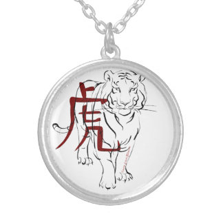 The Tiger Silver Plated Necklace