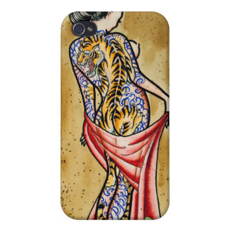 """""""The Tiger Tattoo"""" iPhone 4/4S Cover"""