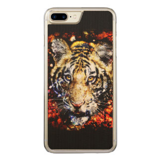 The tiger volcano carved iPhone 8 plus/7 plus case