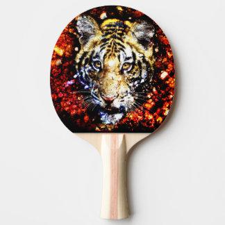 The tiger volcano ping pong paddle