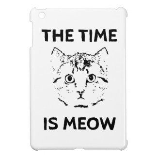 The Time is Meow Case For The iPad Mini