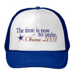 The Time is Now to Unite (Obama 2008) Mesh Hats
