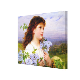 The Time of the Lilacs by Sophie Anderson Stretched Canvas Print