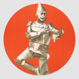 The Tin Man from The Wizard of Oz Classic Round Sticker