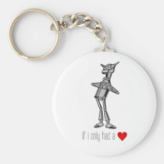 """The Tin Woodsman """"If I Only Had a Heart"""" Basic Round Button Key Ring"""