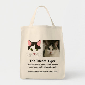 The Tiniest Tiger's Organic Grocery Tote Tote Bags