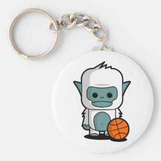 The Tiny Yeti - Playing Basket Ball Key Ring