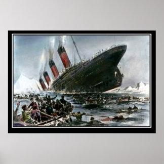 The Titanic Sinking Artist View titanic Series Poster