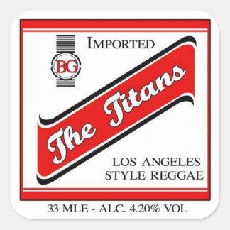 The Titans RedStip Sticker