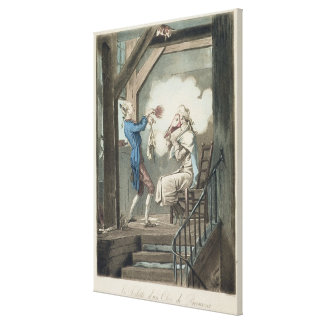 The Toilet of an Attorney's Clerk, engraved by Phi Canvas Prints