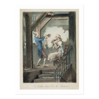 The Toilet of an Attorney's Clerk, engraved by Phi Postcard