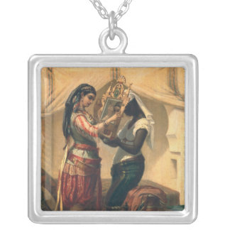 The Toilet of the Odalisque Silver Plated Necklace