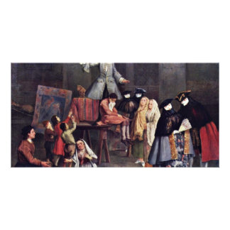 The Tooth-Puller By Longhi Pietro (Best Quality) Personalised Photo Card