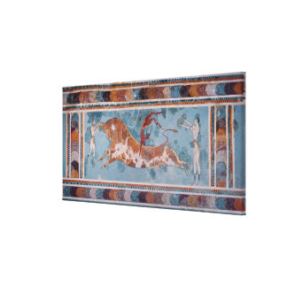 The Toreador Fresco, Knossos Palace, Crete Canvas Print