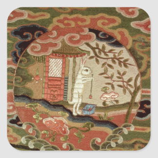 The Tortoise and the Hare, Edo Period Square Sticker
