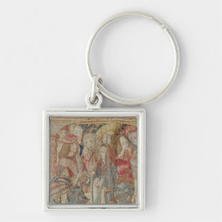 The Tournament vertical loom tapestry Key Chains