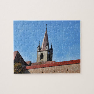 The Tower And The Blue Sky Jigsaw Puzzle