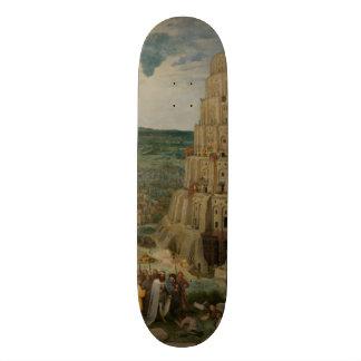 The Tower of Babel by Pieter Bruegel 20 Cm Skateboard Deck