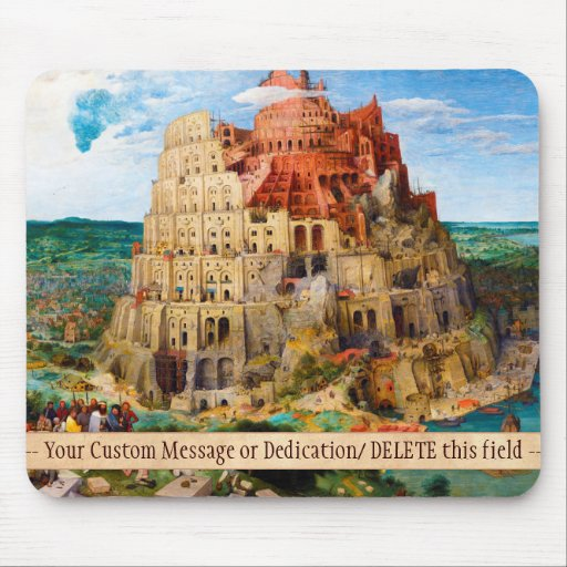 The Tower of Babel Pieter Bruegel the Elder art Mouse Pad