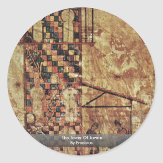 The Tower Of Tavara By Emetrius Classic Round Sticker