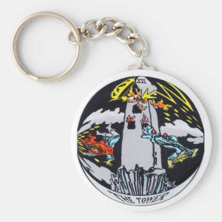 The Tower Tarot Card Key Ring