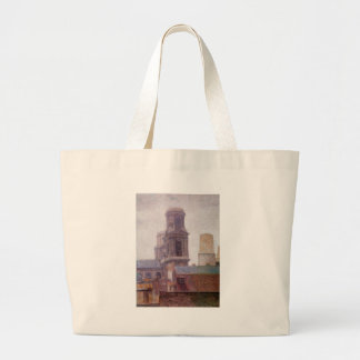 The Towers, Saint-Sulpice by Albert Dubois-Pillet Jumbo Tote Bag