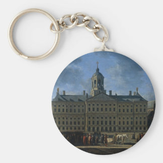 The town hall on the Dam, Amsterdam Basic Round Button Key Ring
