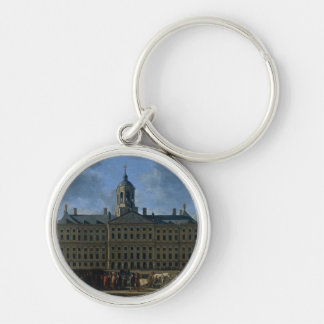 The town hall on the Dam, Amsterdam Silver-Colored Round Key Ring