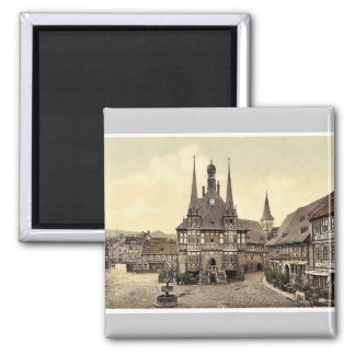 The town hall, Wernigerode, Hartz, Germany rare Ph Square Magnet