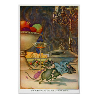 The Town Mouse and The Country Mouse Poster