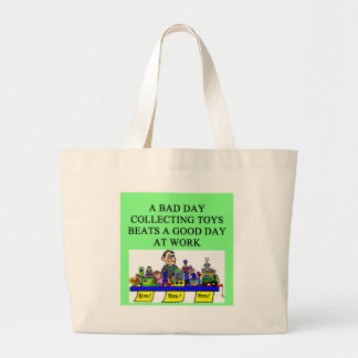 the toy collector large tote bag