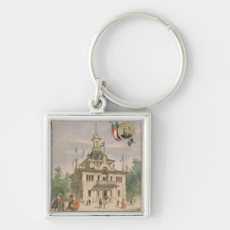 The Transvaal pavilion at the Universal Silver-Colored Square Key Ring