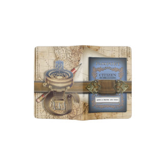 The Traveler Funny Personalized Steampunk Passport Holder