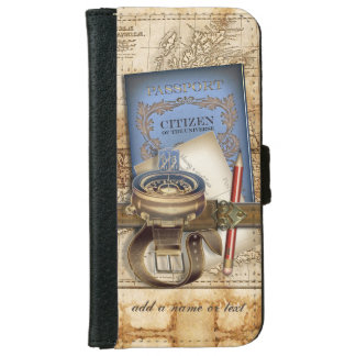 The Traveler Personalized iPhone 6 Wallet Case
