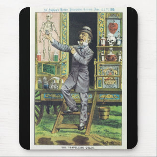 """The Traveling Quack"" Snake Oil Salesman Mouse Pad"