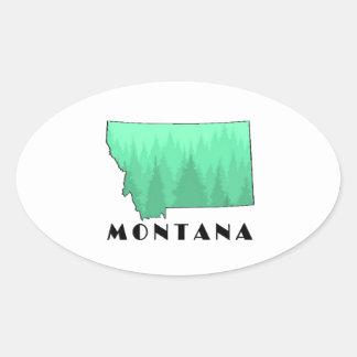 The Treasure State Oval Sticker