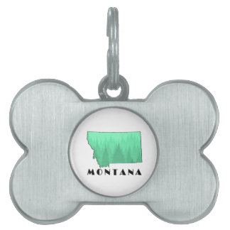The Treasure State Pet Name Tag