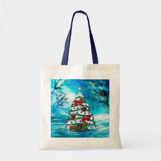 The Tree Christmas Folk Art Bags
