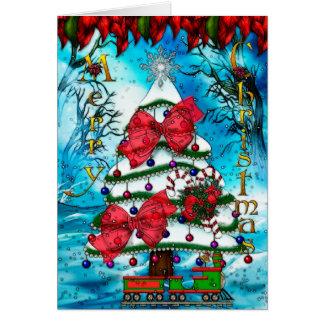 The Tree Christmas Folk Art BLANK Card