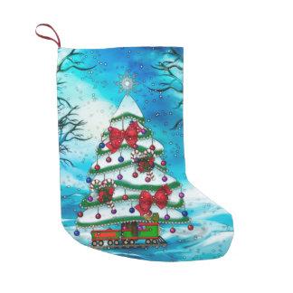 The Tree Christmas Folk Art Small Christmas Stocking