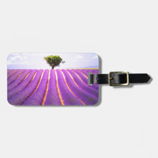 The tree in the lavender luggage tag
