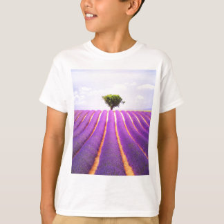 The tree in the lavender T-Shirt